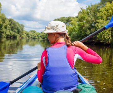 kayak+girl